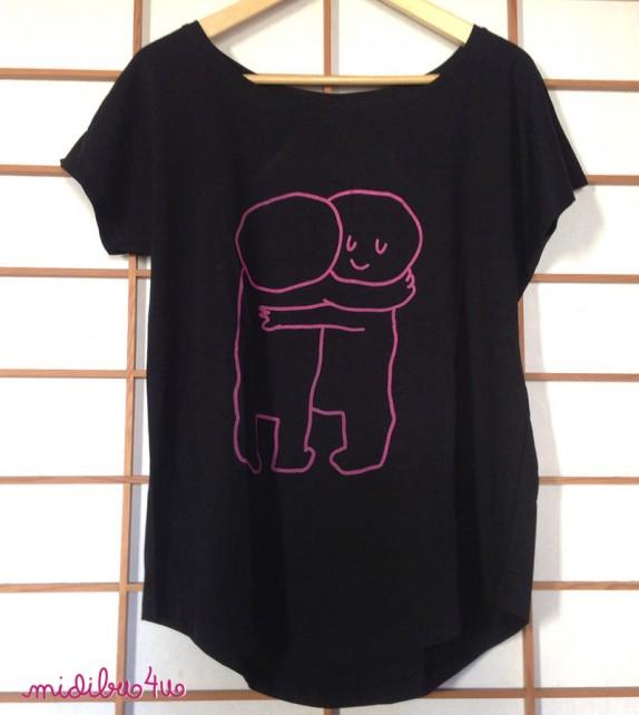 "Camiseta ""Abracitos"" chica. Manga corta"