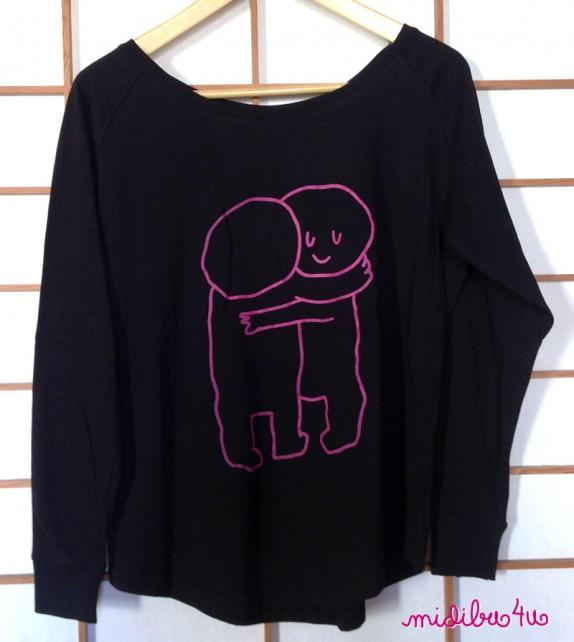 "Camiseta ""Abracitos"" chica. Manga larga"