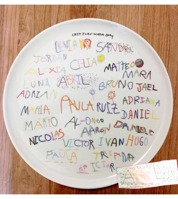 Plato de pizza para profesores